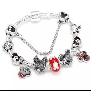 Jewelry - New 18cm Mickey Minnie Mouse Charm Bracelet